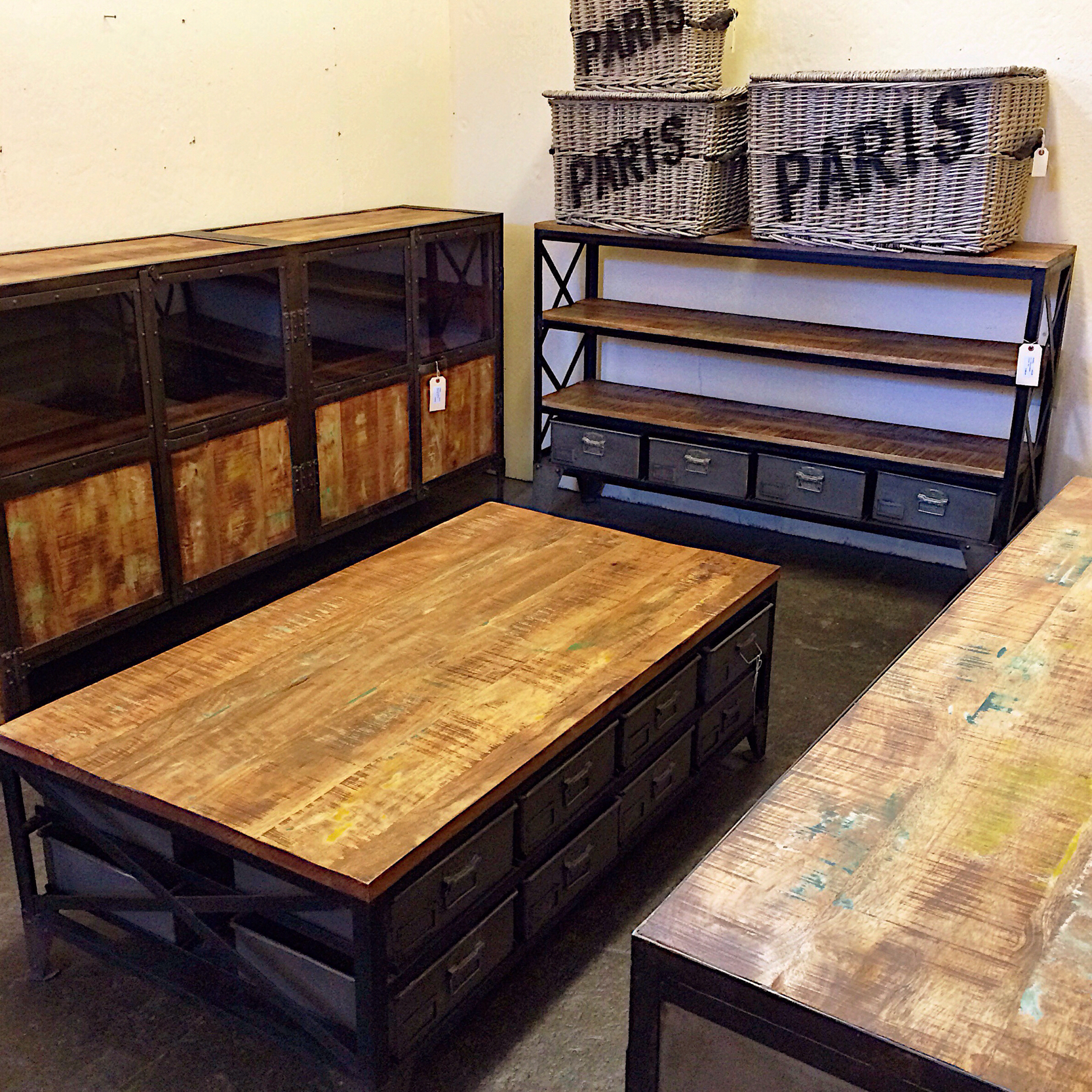 Just In New Industrial Furniture From India Kudzu Antiques